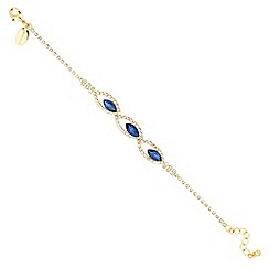 Jon Richard - Blue navette and diamante crystal surround bracelet
