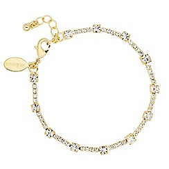 Jon Richard - Gold diamante crystal link bracelet