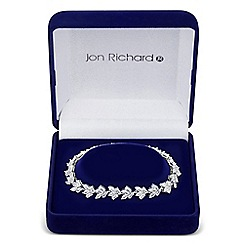Jon Richard - Cubic zirconia botanical leaf link bracelet