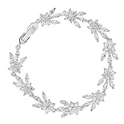 Alan Hannah Devoted - Designer iris cubic zirconia flower bracelet