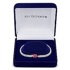 Jon Richard - Red cubic zirconia peardrop and diamante bracelet