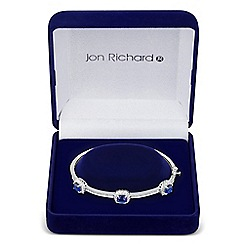 Jon Richard - Triple blue cubic zirconia square surround bangle