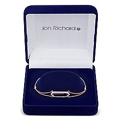 Jon Richard - Purple cubic zirconia baguette surround link bracelet