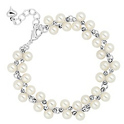 Jon Richard - Pearl and mini crystal link bracelet