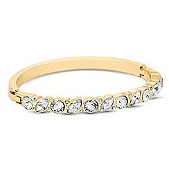 Jon Richard - Navette and circle stone gold bangle MADE WITH SWAROVSKI CRYSTALS