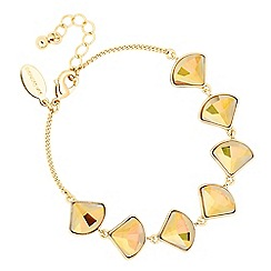 Jon Richard - Gold fan drop link bracelet MADE WITH SWAROVSKI CRYSTALS