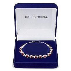 Jon Richard - Red cubic zirconia peardrop link bracelet