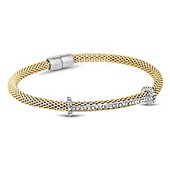 Jon Richard - Crystal t bar mesh magnetic bracelet