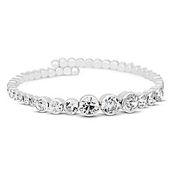 Jon Richard - Graduated diamante crystal cuff