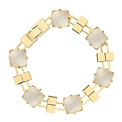 Jon Richard - Square crystal and gold bar bracelet