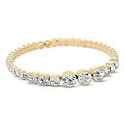 Jon Richard - Graduated round crystal cuff bracelet