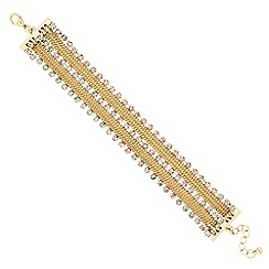 Jon Richard - Diamante crystal tassel chain collar bracelet