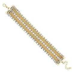 Jon Richard - Diamante crystal tassel chain collar bracelet