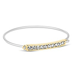 Jon Richard - Gold crystal bar silver bangle