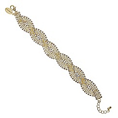 Jon Richard - Gold diamante swirl bracelet