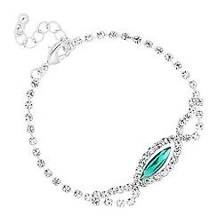 Jon Richard - Green diamante crystal navette bracelet