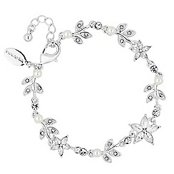 Jon Richard - Pearl crystal flower bracelet