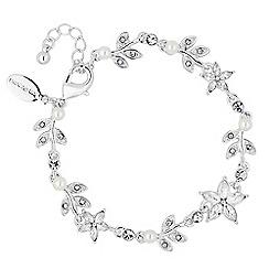 Jon Richard - Pearl crystal flower bracelet