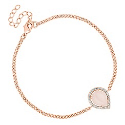 Jon Richard - Semi precious rose gold teardrop bracelet