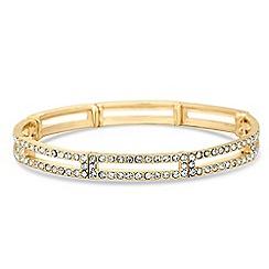 Jon Richard - Pave crystal link stretch bracelet