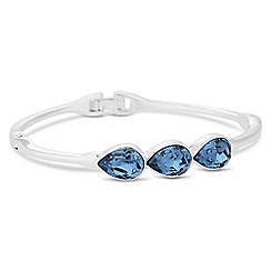 Jon Richard - Crystal teardrop bangle MADE WITH SWAROVSKI CRYSTALS