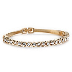 Jon Richard - Rose gold crystal row hinged bangle