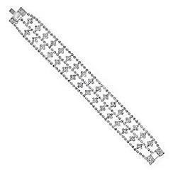 Jon Richard - Silver diamante square bracelet