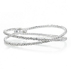 Jon Richard - Silver crystal wrap around bangle