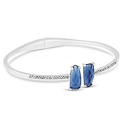 Jon Richard - Blue cubic zirconia hinge bangle