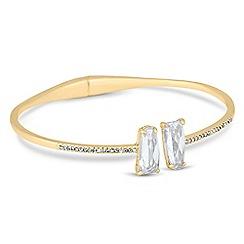 Jon Richard - Gold crystal hinged cuff bangle