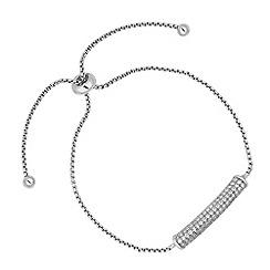 Jon Richard - Silver pave toggle bracelet
