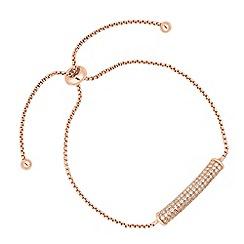 Jon Richard - Rose gold pave toggle bracelet