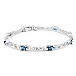 Jon Richard - Blue oval cubic zirconia bracelet