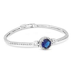 Jon Richard - Blue cubic zirconia centre stone link bracelet