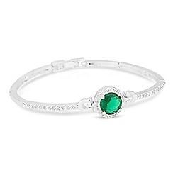 Jon Richard - Green cubic zirconia centre stone link bracelet