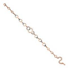 Jon Richard - Rose gold crystal circle link bracelet