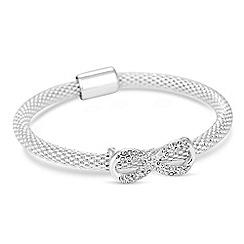 Jon Richard - Silver crystal infinity mesh bangle