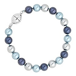 Jon Richard - Blue tonal pearl magnetic bracelet
