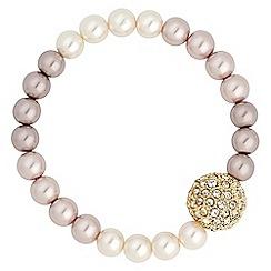 Jon Richard - Mink ombre tonal pearl graduated pearl bracelet