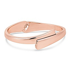 Jon Richard - Rose gold cross over hinged bangle
