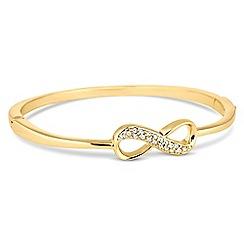 Jon Richard - Gold crystal infinity bangle