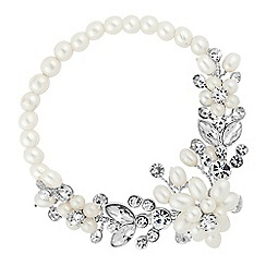 Alan Hannah Devoted - Designer pearl blossom wrap bracelet