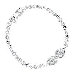 Alan Hannah Devoted - Designer cubic zirconia peardrop bracelet