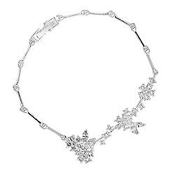 Alan Hannah Devoted - Designer cubic zirconia floral cluster bracelet