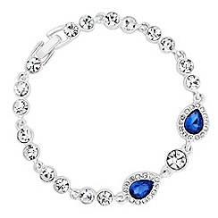 Jon Richard - Blue crystal peardrop bracelet