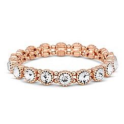 Jon Richard - Rose gold crystal circle stretch bracelet