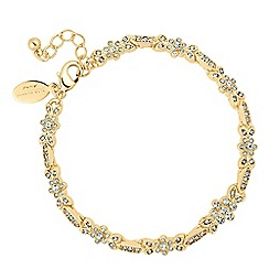 Alan Hannah Devoted - Designer gold leaf and flower crystal bracelet