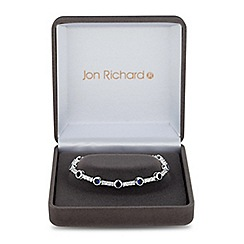 Jon Richard - Lustre Collection Blue cubic zirconia circle link bracelet