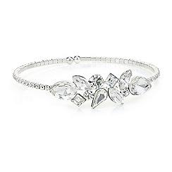 Jon Richard - Silver crystal diamante peardrop bracelet