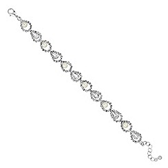 Jon Richard - Pearl and crystal open link bracelet